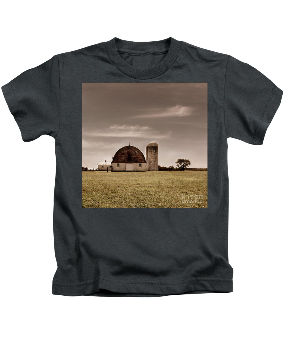 Farm Kids T-Shirt featuring the photograph Dry Earth Crumbles Between My Fingers And I Look To The Sky For Rain by Dana DiPasquale