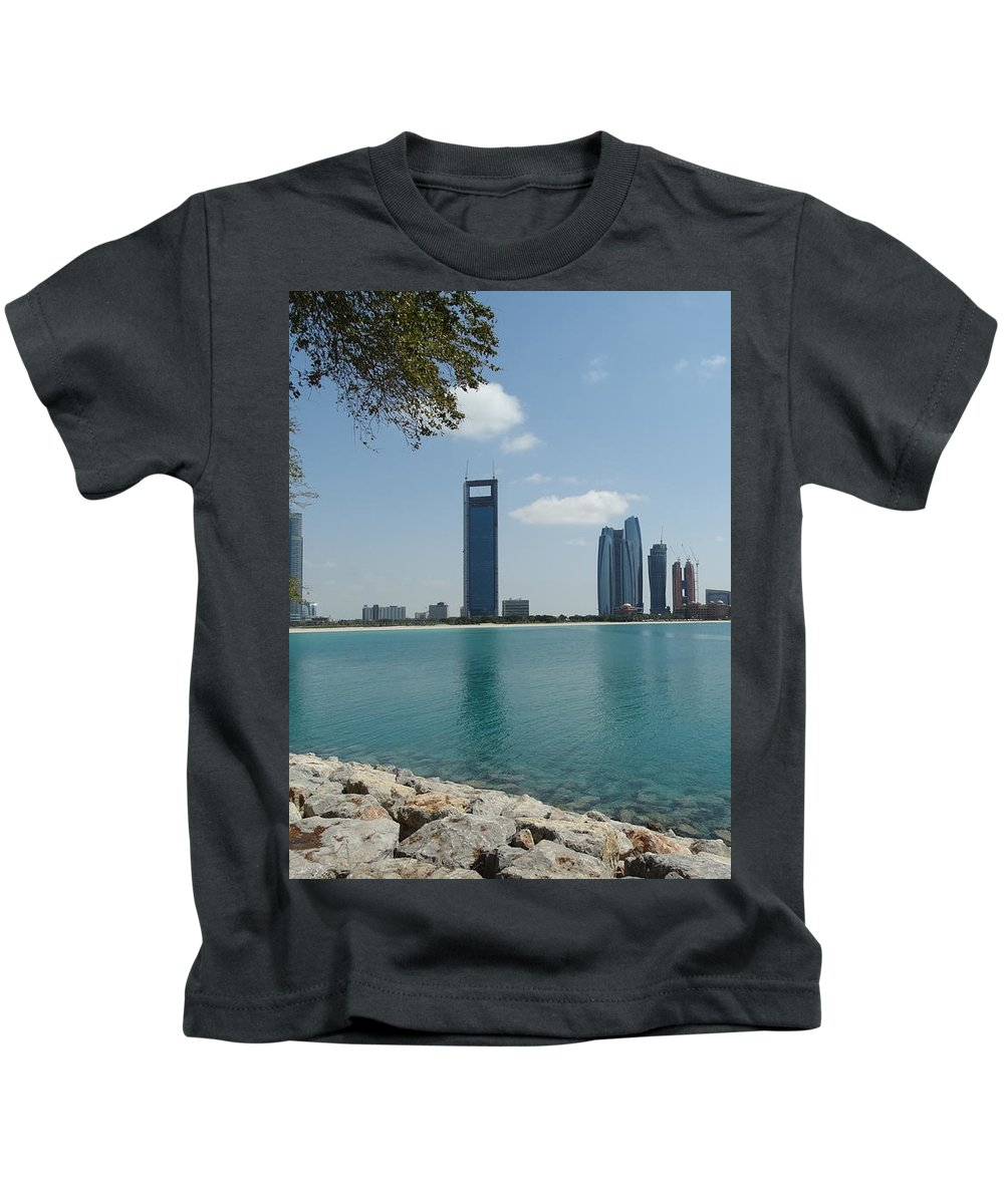 Dubai Kids T-Shirt featuring the photograph Dubai by Anton Kostadinov