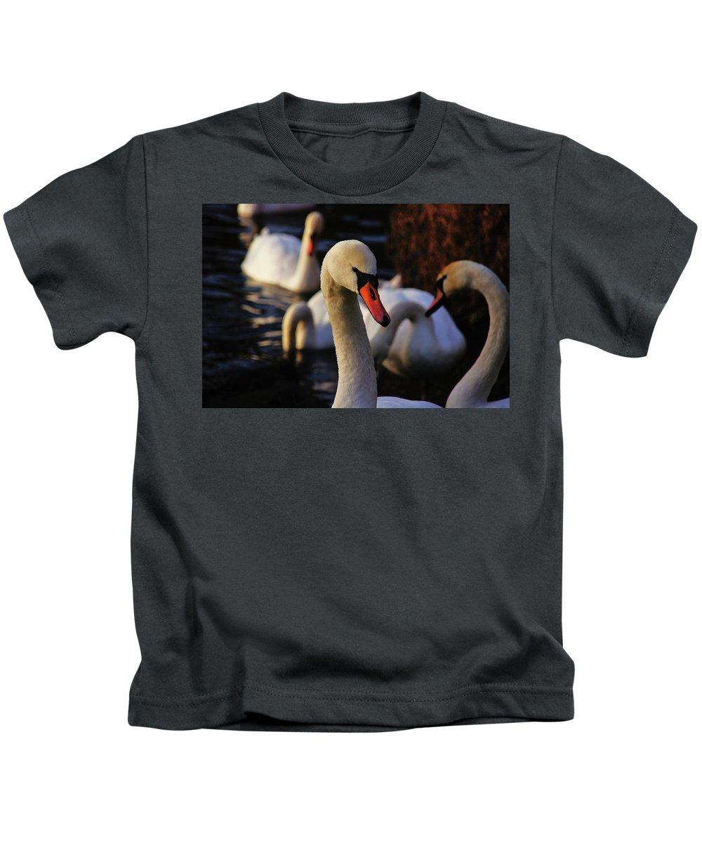 Nik Watt Kids T-Shirt featuring the photograph Evening News 133 by Nik Watt