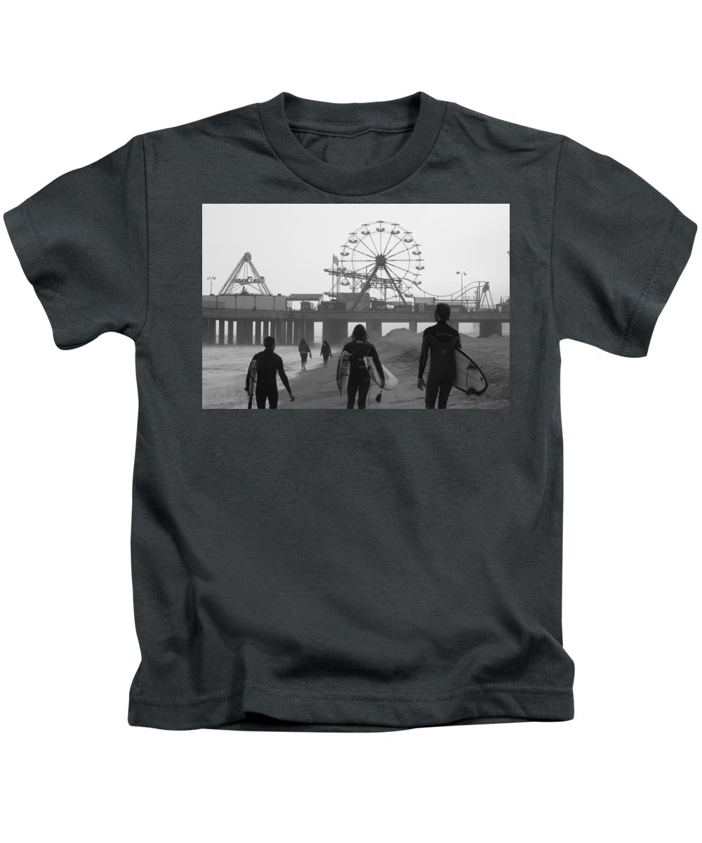 Surfing Kids T-Shirt featuring the photograph Dudes by Kevin Cote