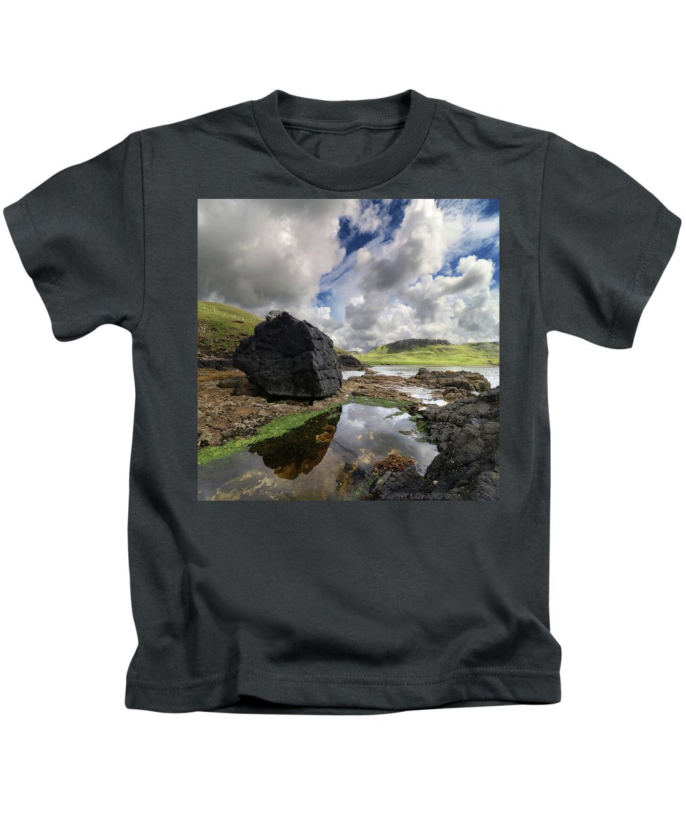 Scotland Kids T-Shirt featuring the photograph Duntulm by Jerry LoFaro