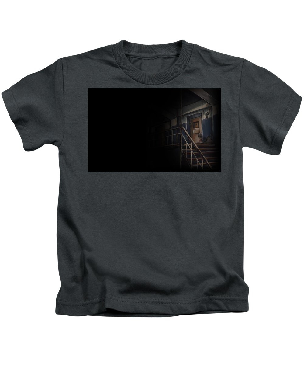 Dusk 12 Kids T-Shirt featuring the digital art Dusk 12 by Dorothy Binder