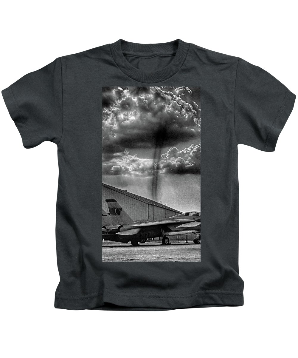 Dust Devil Kids T-Shirt featuring the photograph Dust Devil by Tommy Anderson