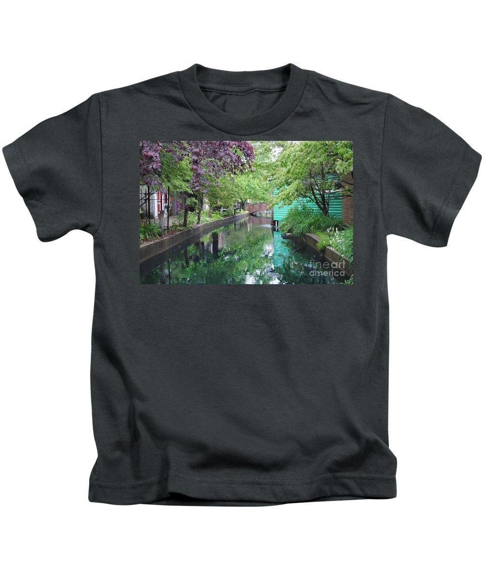 Dutch Kids T-Shirt featuring the photograph Dutch Canal by Jost Houk