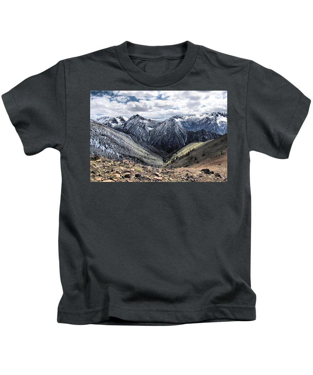 Mt Howard Kids T-Shirt featuring the photograph Oregon's Eagle Cap Wilderness by Don Siebel