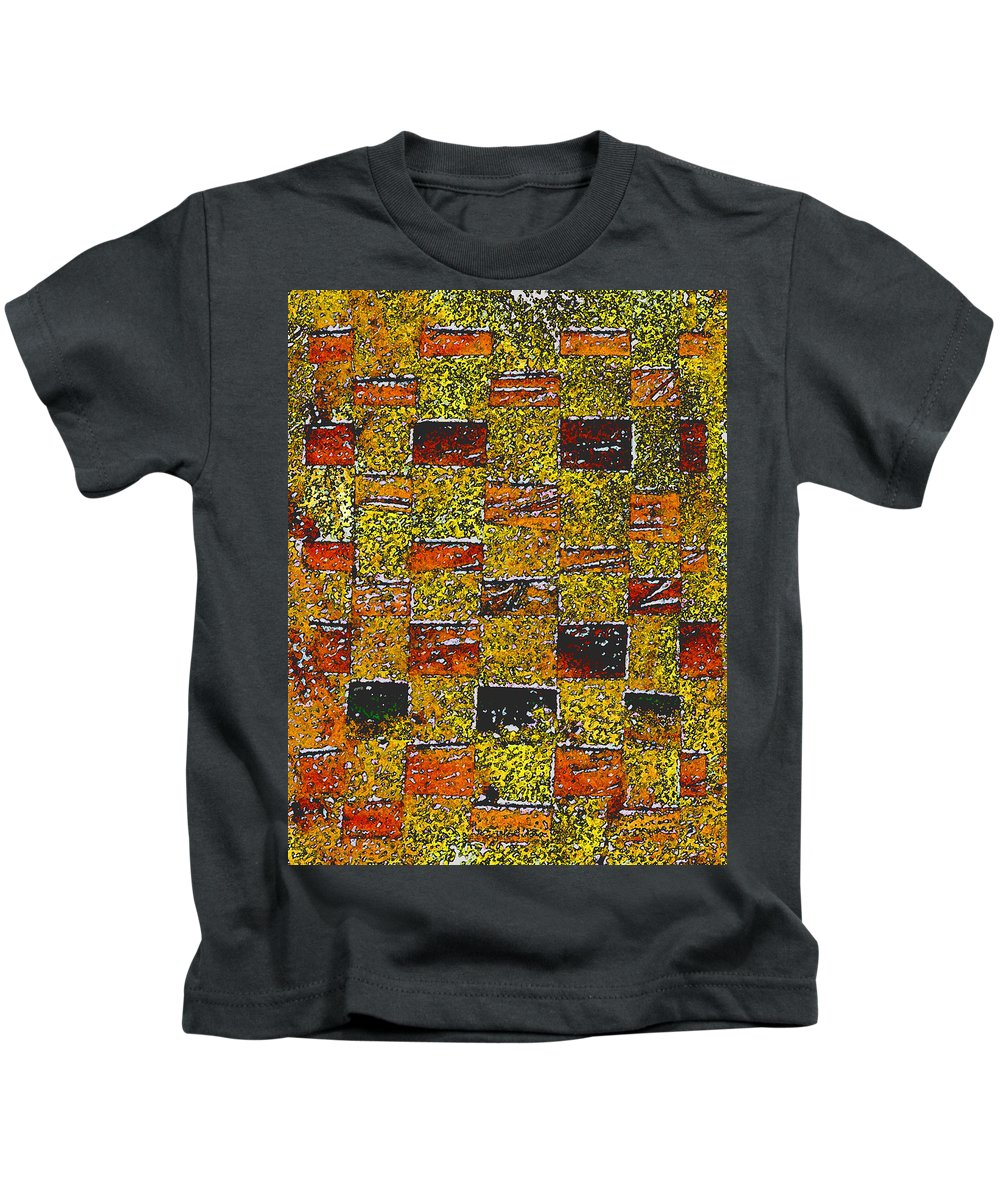 Weaving Kids T-Shirt featuring the painting Earths Tapestry by Wayne Potrafka