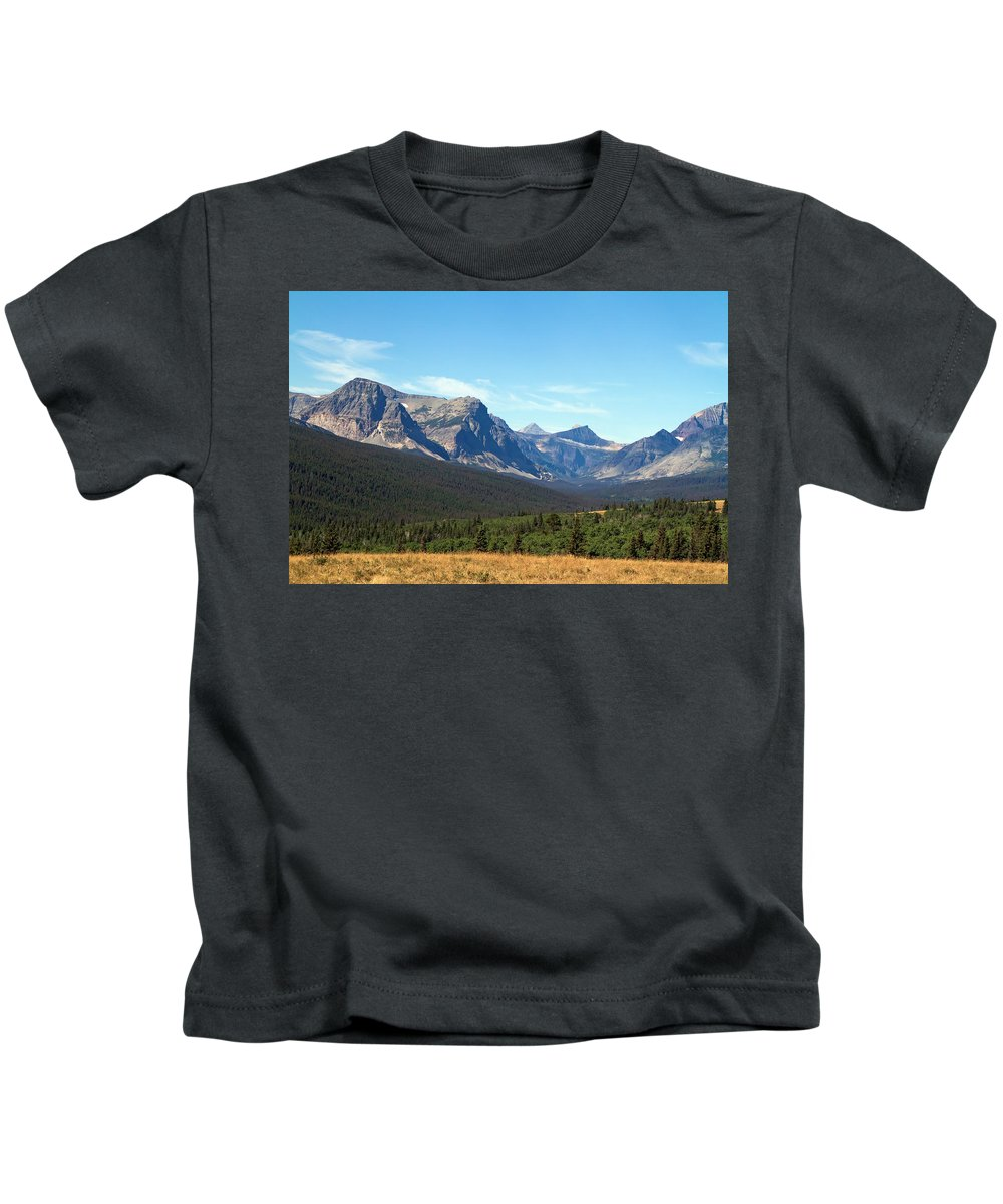 Glacier Kids T-Shirt featuring the photograph East Glacier Park by Waterdancer