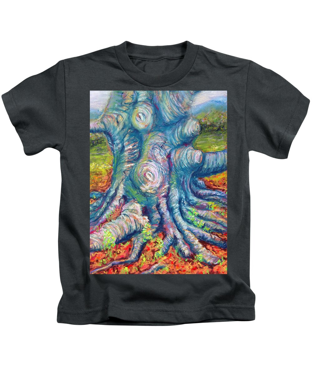 Eastern Beech Tree Kids T-Shirt featuring the painting Eastern Beech Tree by Laurie Paci