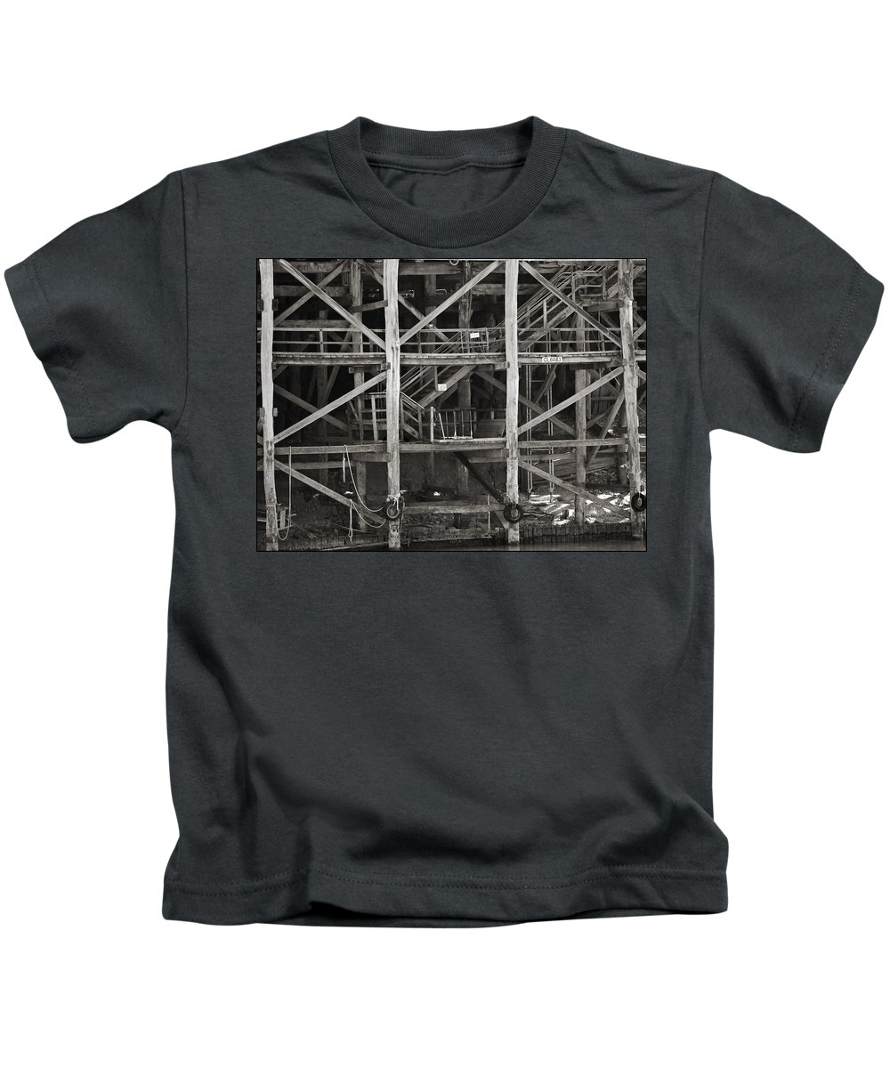 Wharf Kids T-Shirt featuring the photograph Echuca Wharf by Kelly Jade King