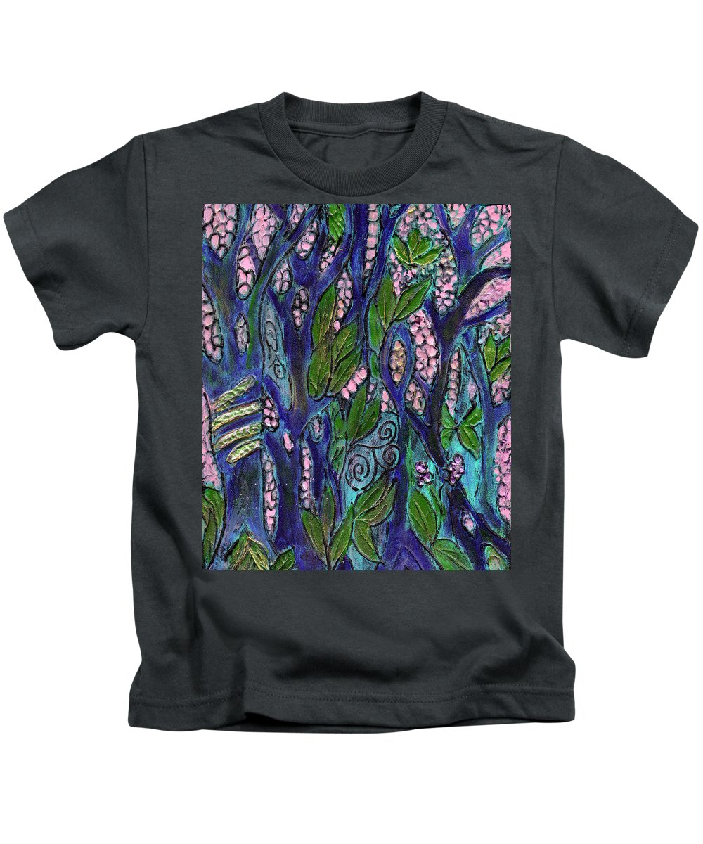 Garden Of Eden Kids T-Shirt featuring the painting Eden by Wayne Potrafka