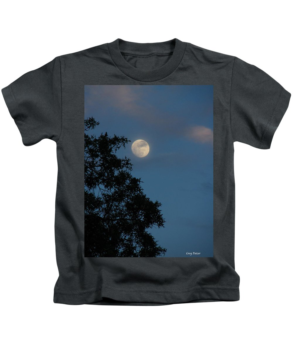Patzer Kids T-Shirt featuring the photograph Eight Thirty Two Pm by Greg Patzer