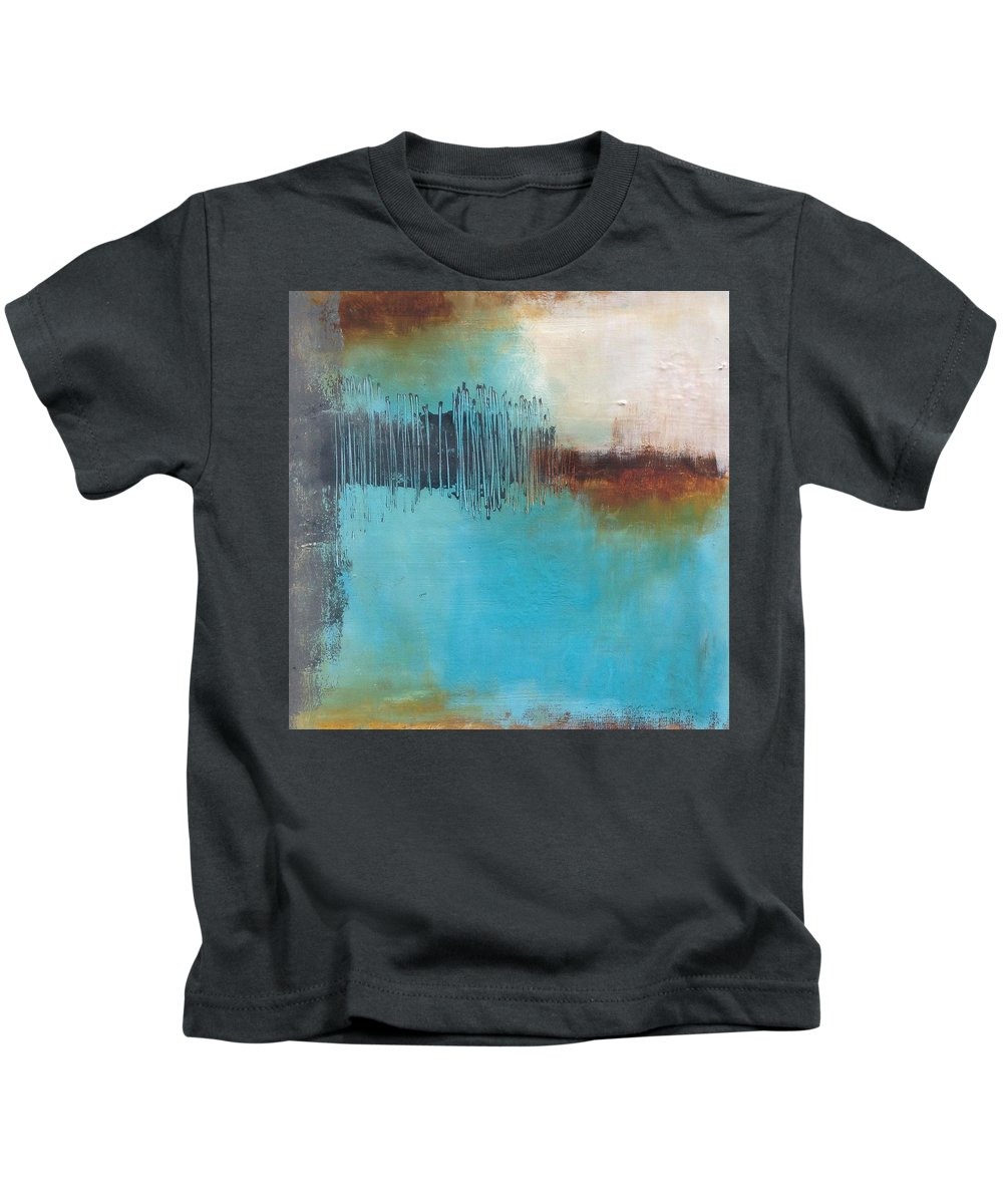 Abstract Kids T-Shirt featuring the painting Eighteen Eighty Six by Petra Lea