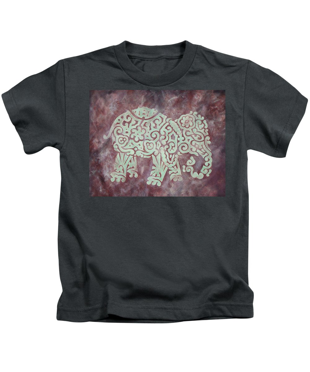 Elephant Kids T-Shirt featuring the painting Elephant - Animal Series by Jennifer Kelly
