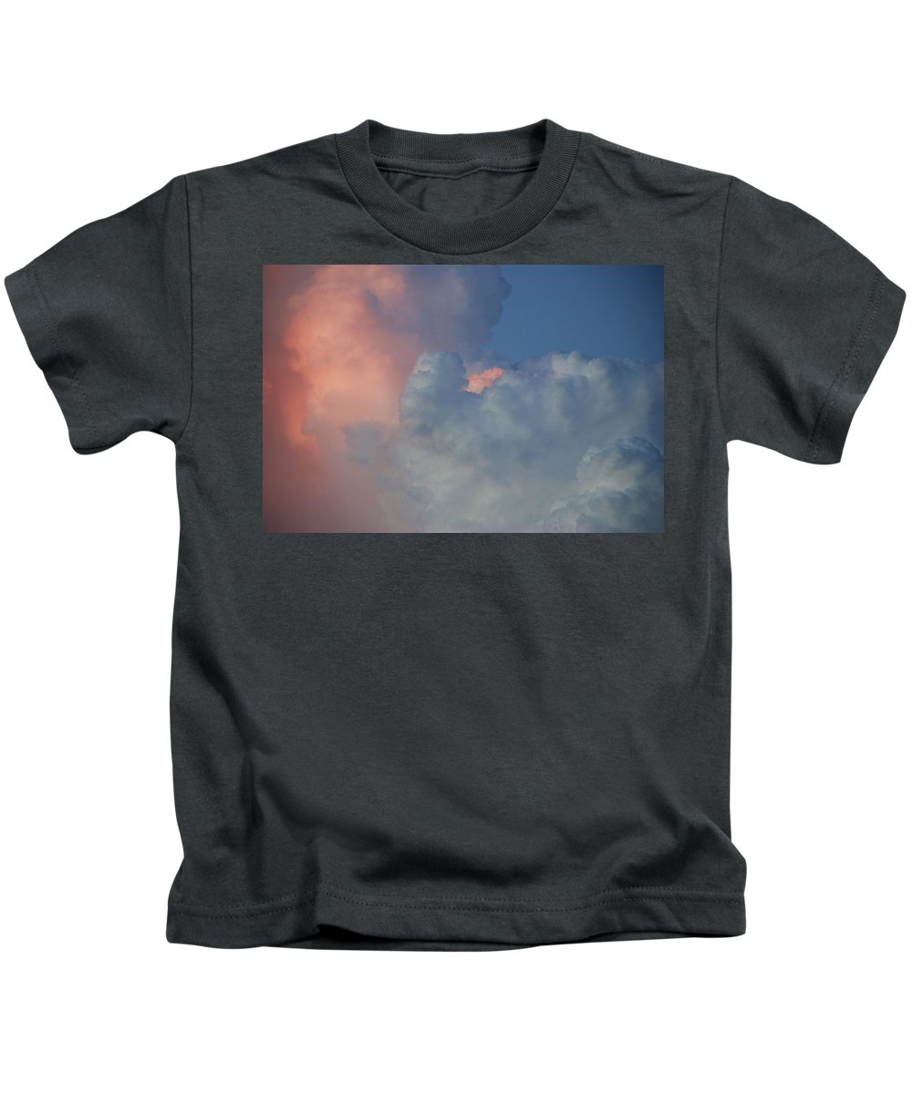 Clouds Kids T-Shirt featuring the photograph Elephant In The Sky by Rob Hans