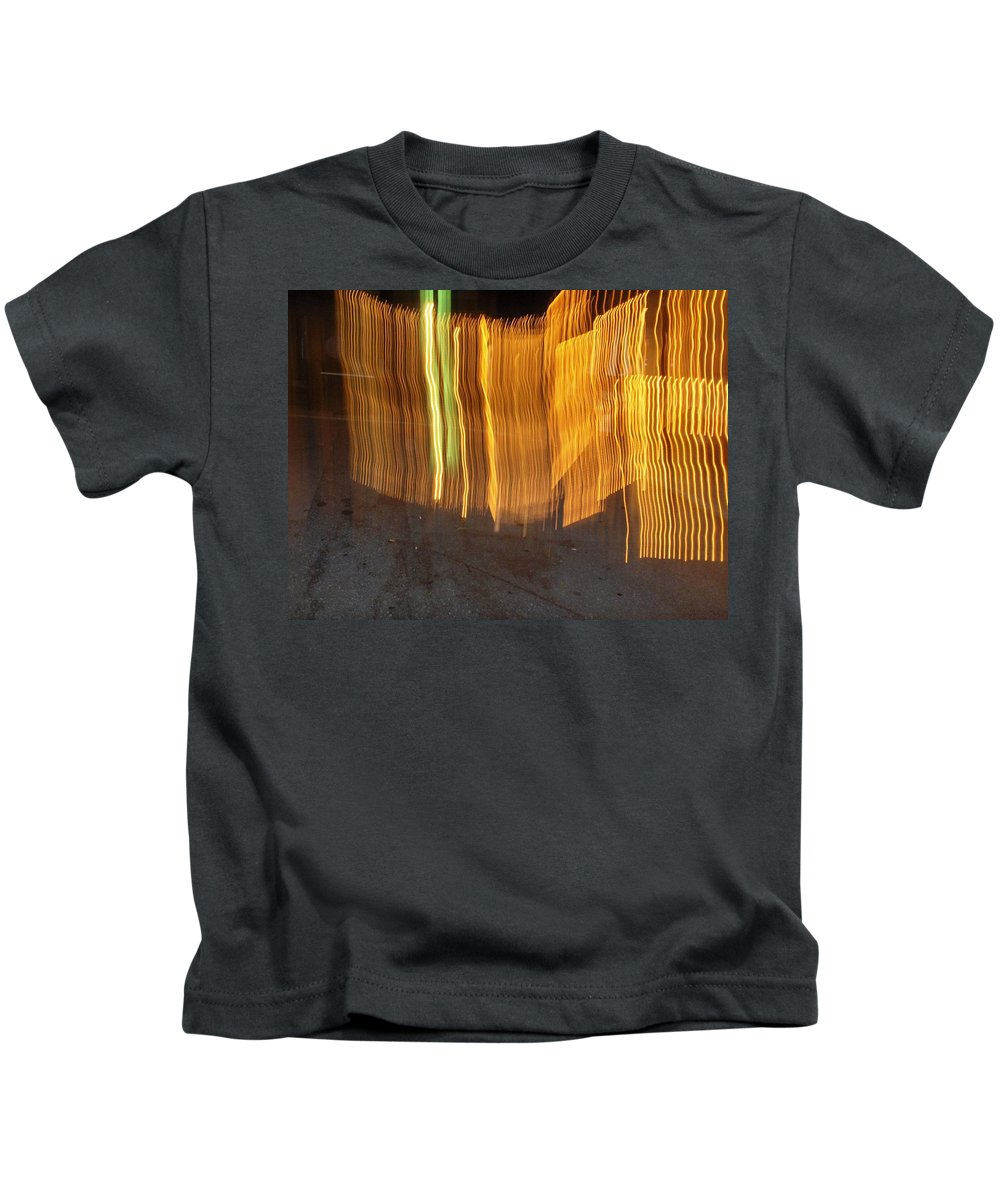 Photograph Kids T-Shirt featuring the photograph Eletric Fence by Thomas Valentine