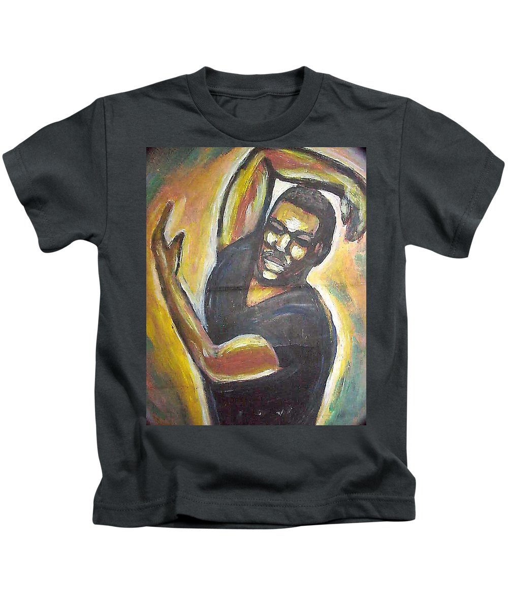 Figure Kids T-Shirt featuring the painting Embrace The Earth by Jan Gilmore