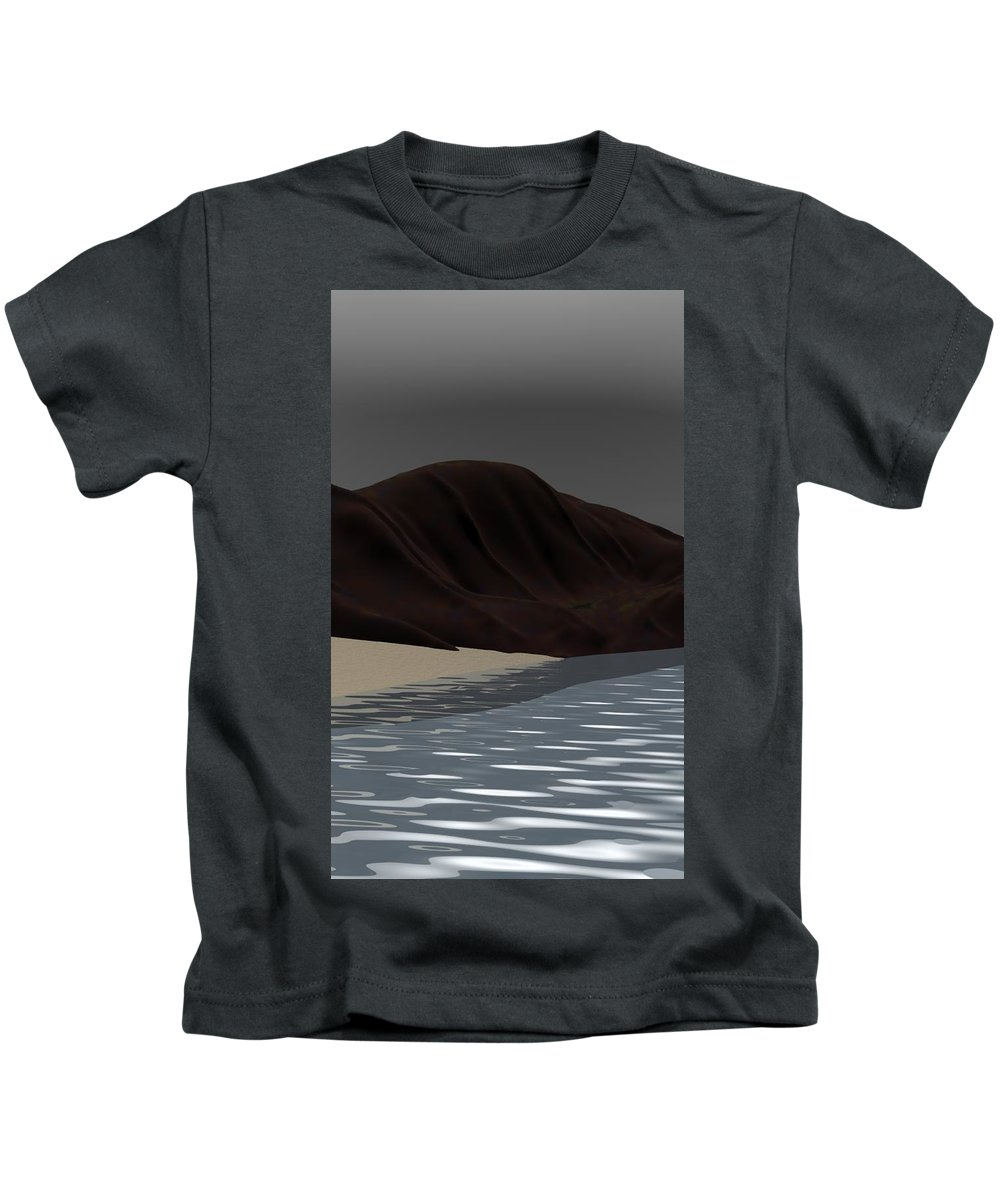 Abstract Kids T-Shirt featuring the digital art Emotion by David Lane