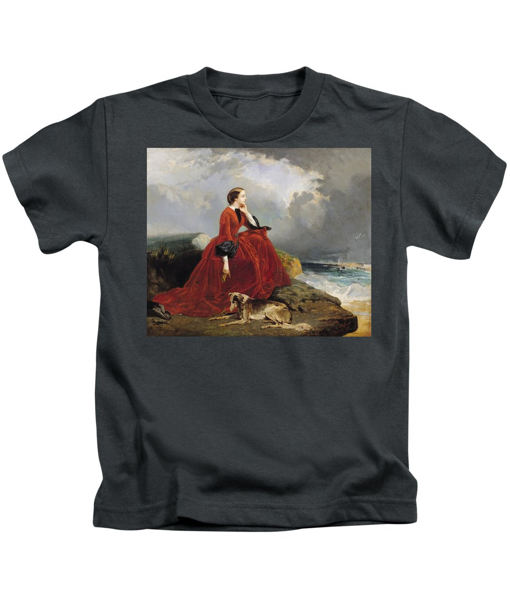 Empress Kids T-Shirt featuring the painting Empress Eugenie by E Defonds