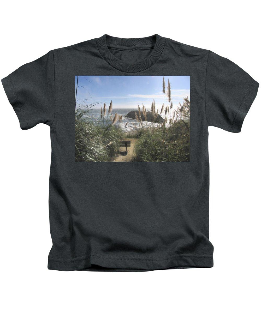 Ocean Kids T-Shirt featuring the photograph Empty Seat by Karen W Meyer