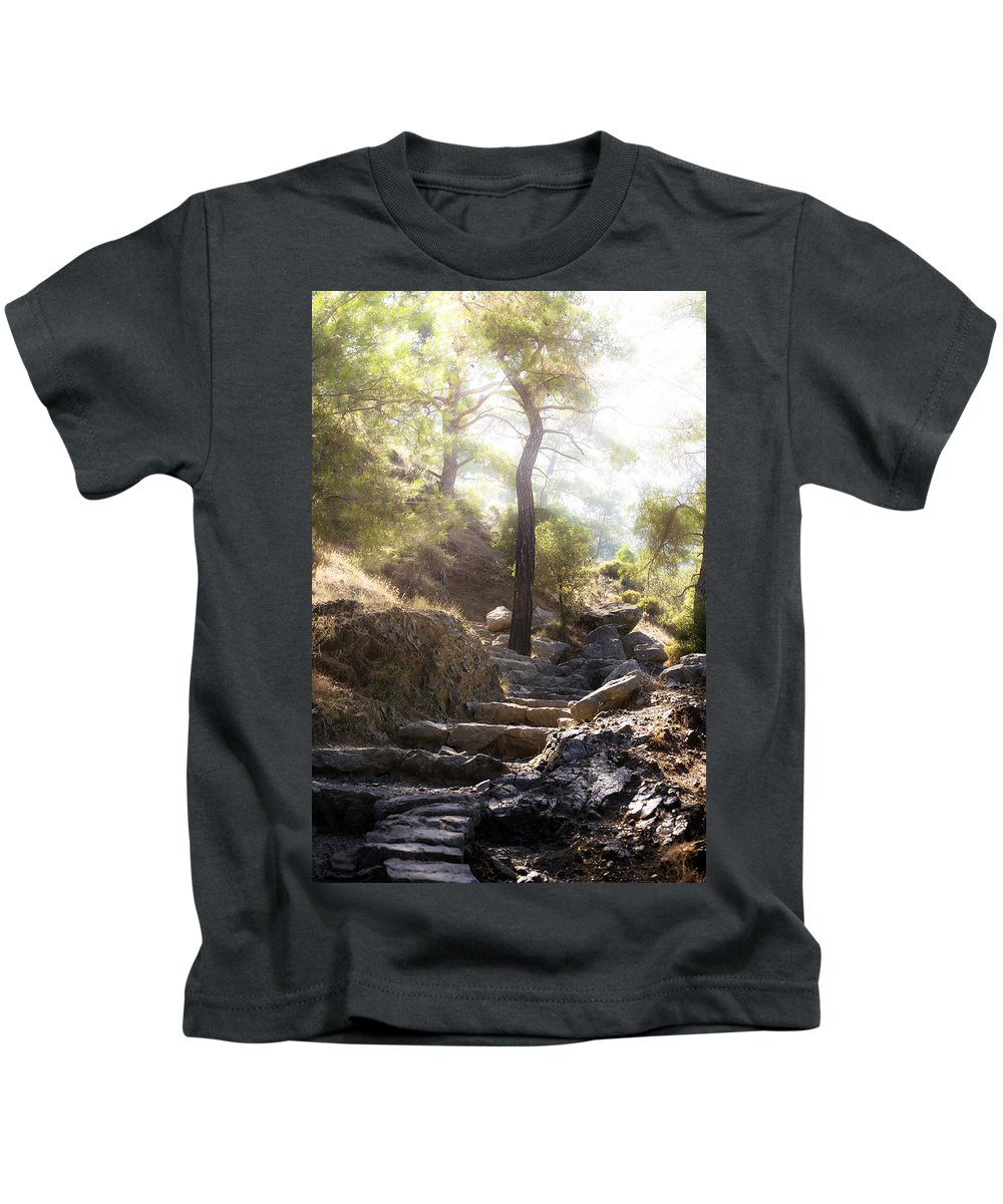 Wood Kids T-Shirt featuring the photograph Enchanted Forest by Joana Kruse