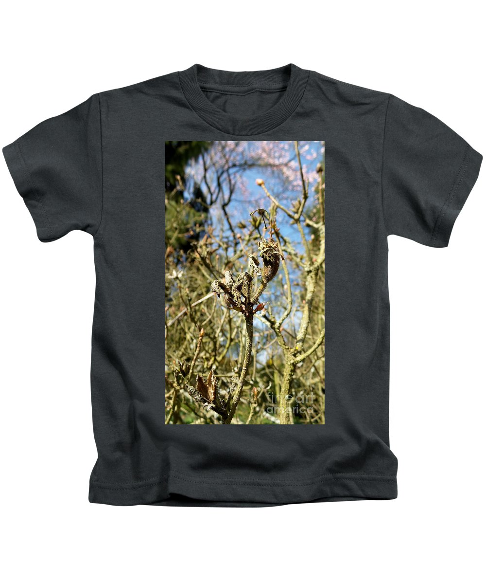 Macro Kids T-Shirt featuring the photograph End Surrounded By New by Francesca Mackenney