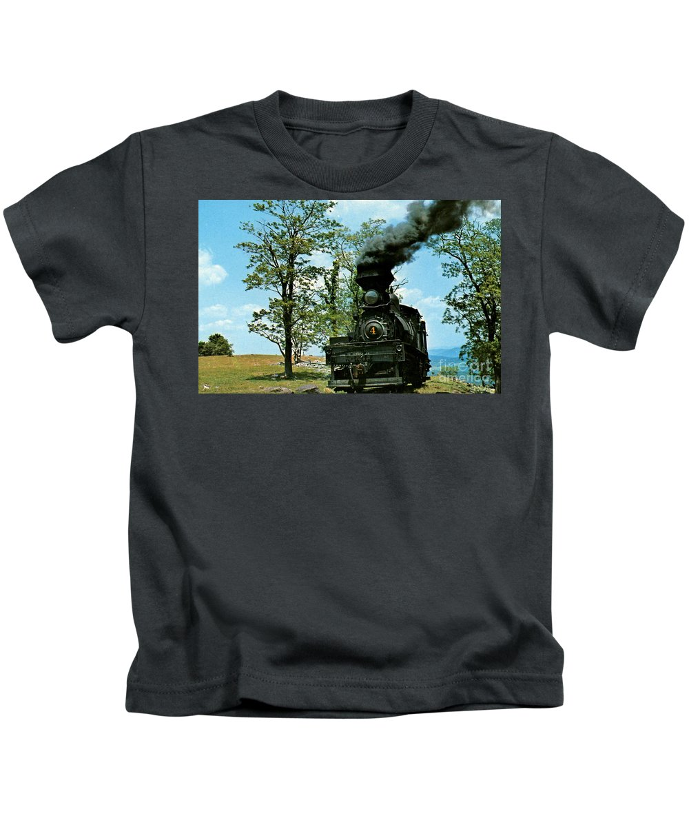 Engine Number 4 Prints Kids T-Shirt featuring the photograph Engine Number 4 by Ruth Housley