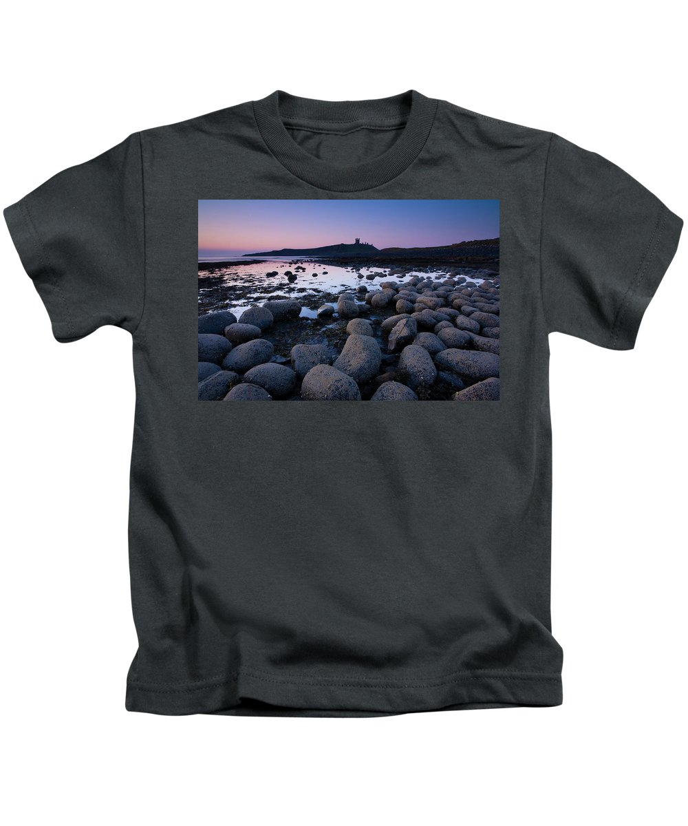 Northumberland Kids T-Shirt featuring the photograph England, Northumberland, Embleton Bay. by Jason Friend