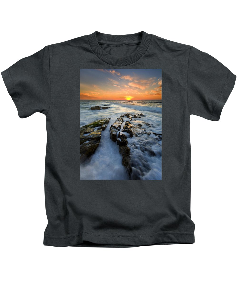 Sunset Kids T-Shirt featuring the photograph Engulfed by Mike Dawson