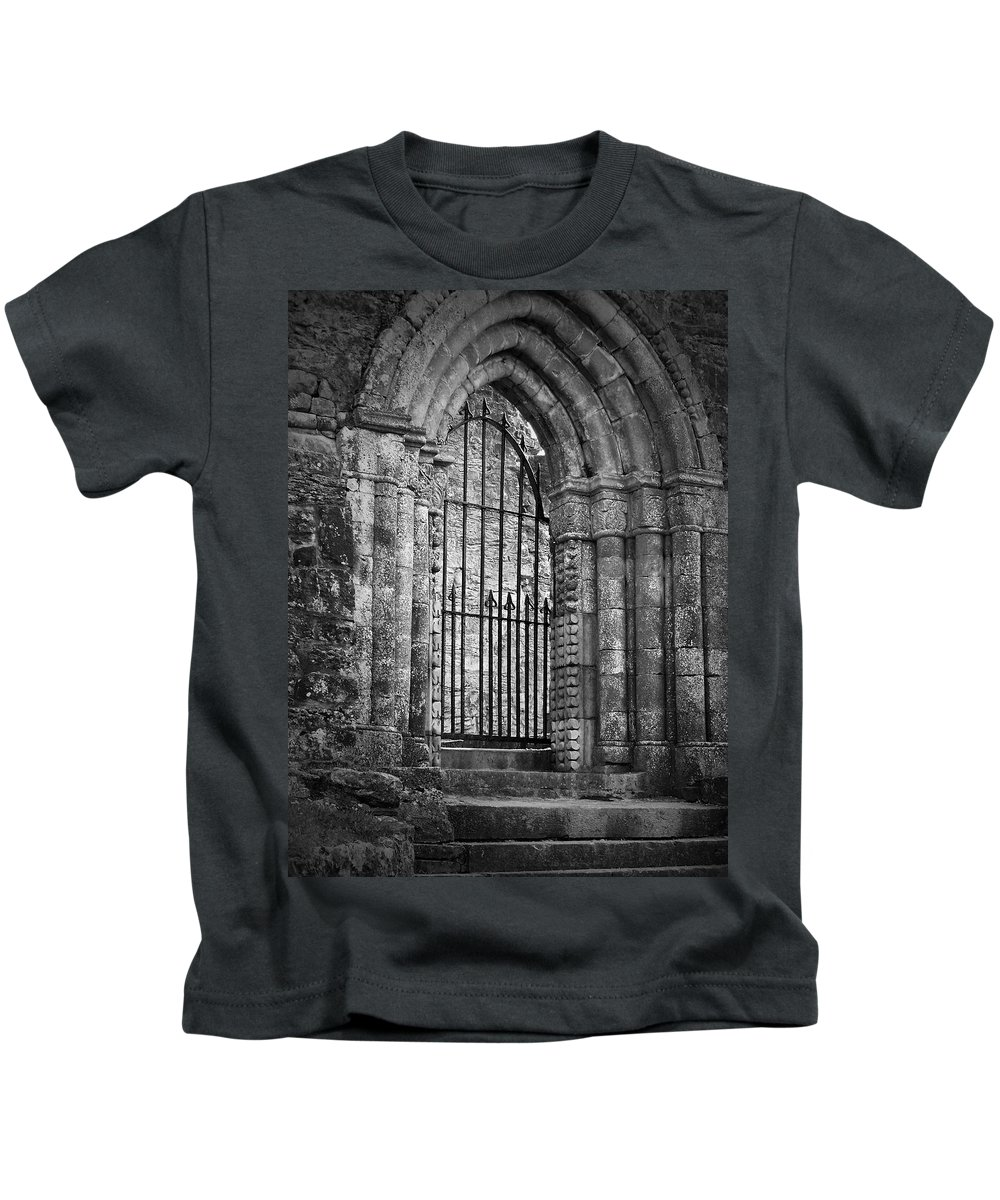 Irish Kids T-Shirt featuring the photograph Entrance To Cong Abbey Cong Ireland by Teresa Mucha