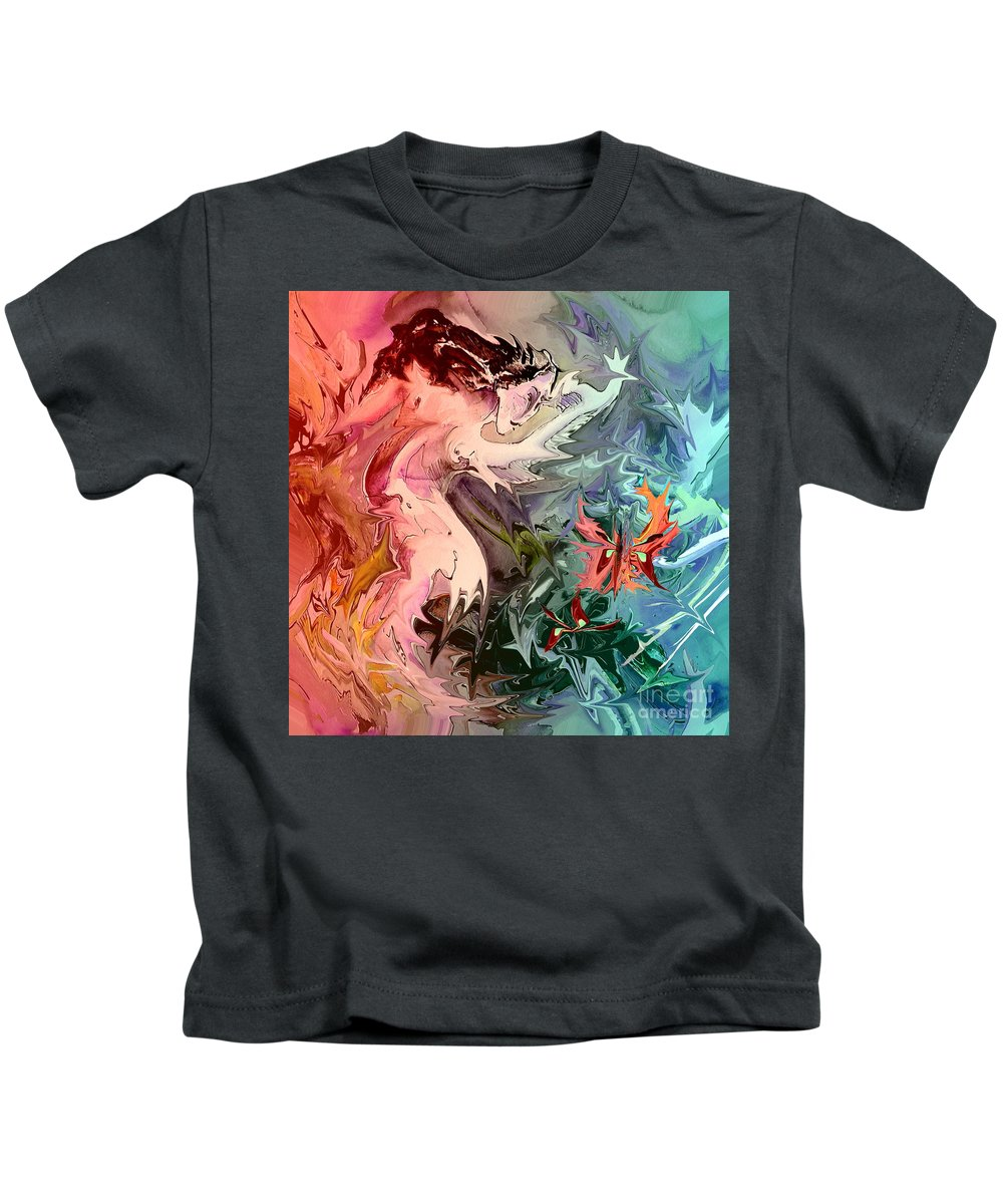Miki Kids T-Shirt featuring the painting Eroscape 08 1 by Miki De Goodaboom