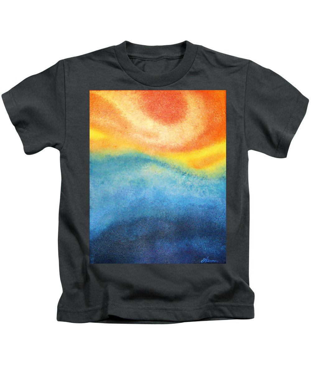 Escape Kids T-Shirt featuring the painting Escape by Todd Hoover
