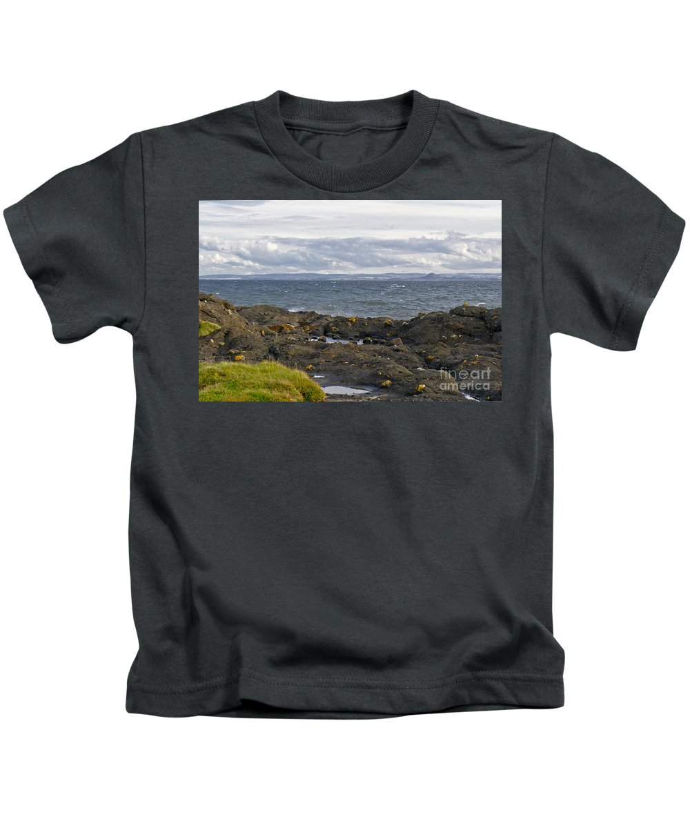 Waves And Rocks Kids T-Shirt featuring the photograph Eternal Neighbours. by Elena Perelman