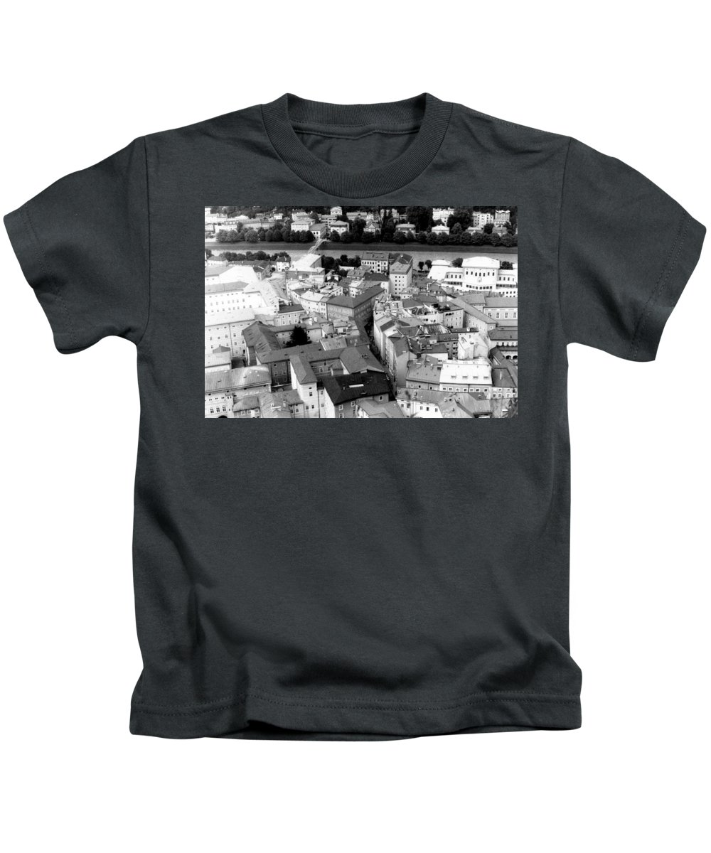 Rofftops Kids T-Shirt featuring the photograph European Rooftops by Michelle Calkins
