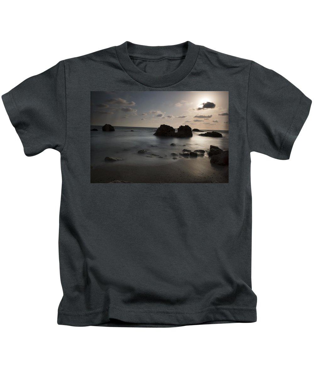 Evening Kids T-Shirt featuring the photograph Evening At Sidna Ali Beach 1 by Dubi Roman