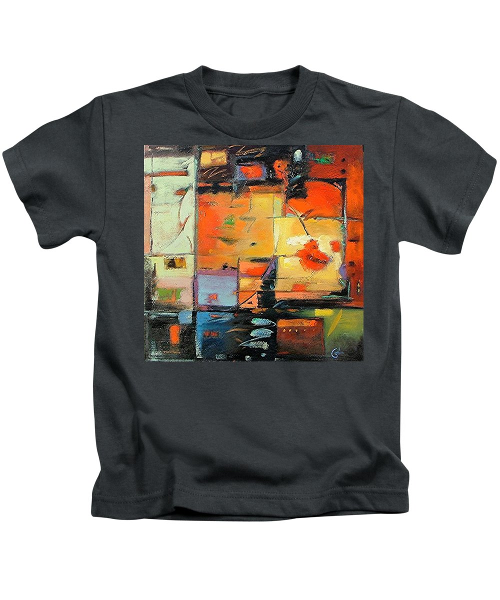 Abstract Painting Kids T-Shirt featuring the painting Evening Light by Gary Coleman