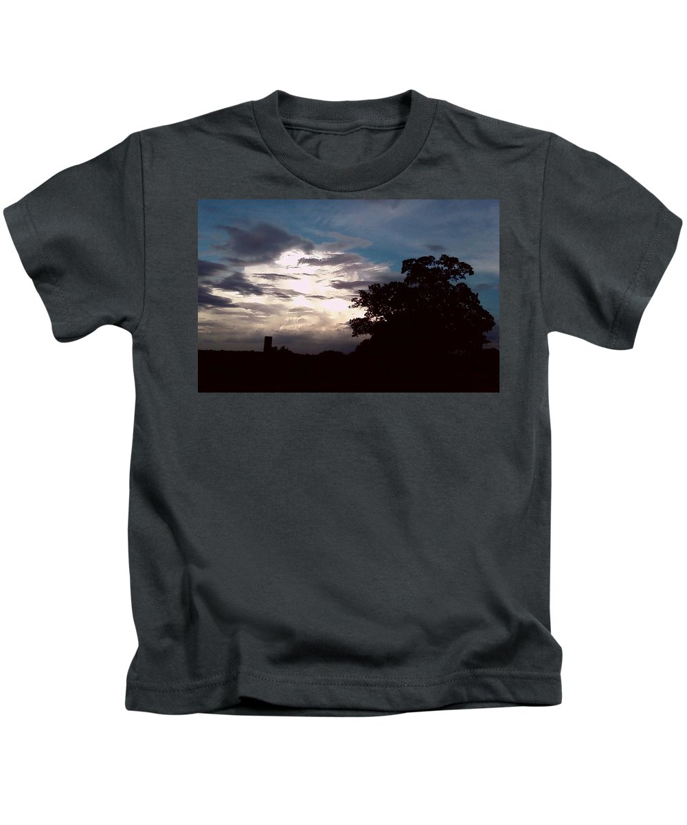 Sky Kids T-Shirt featuring the photograph Evening Sky 1 by Cindy New