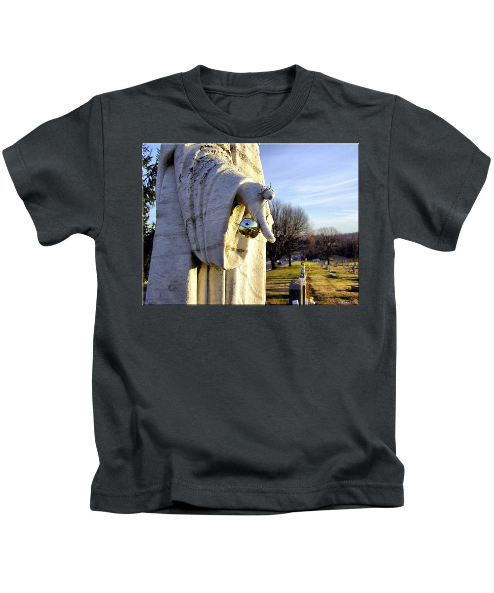 2d Kids T-Shirt featuring the photograph Every Time A Bell Rings... by Brian Wallace