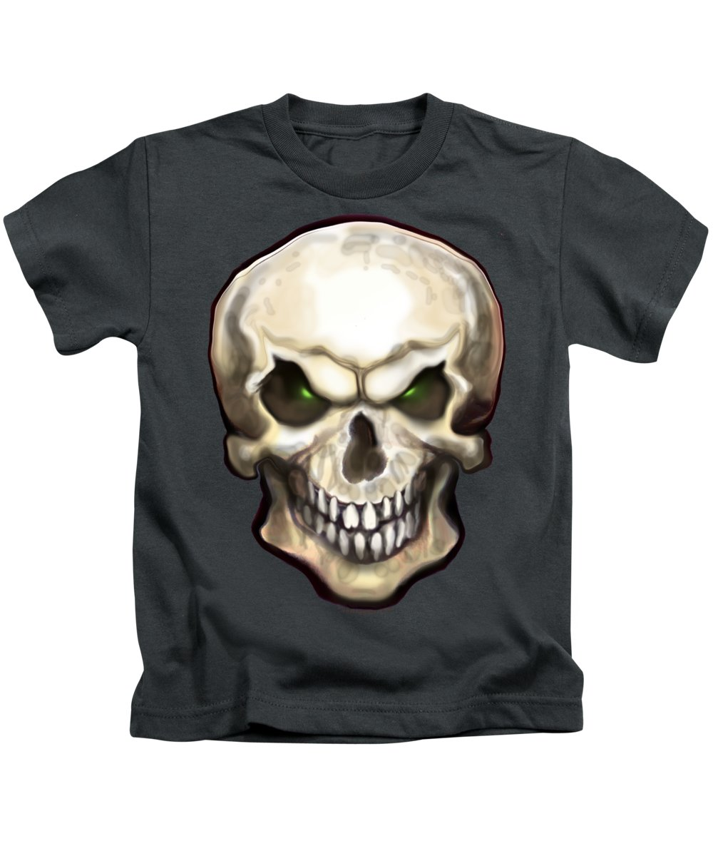 Skull Kids T-Shirt featuring the painting Evil Skull by Kevin Middleton