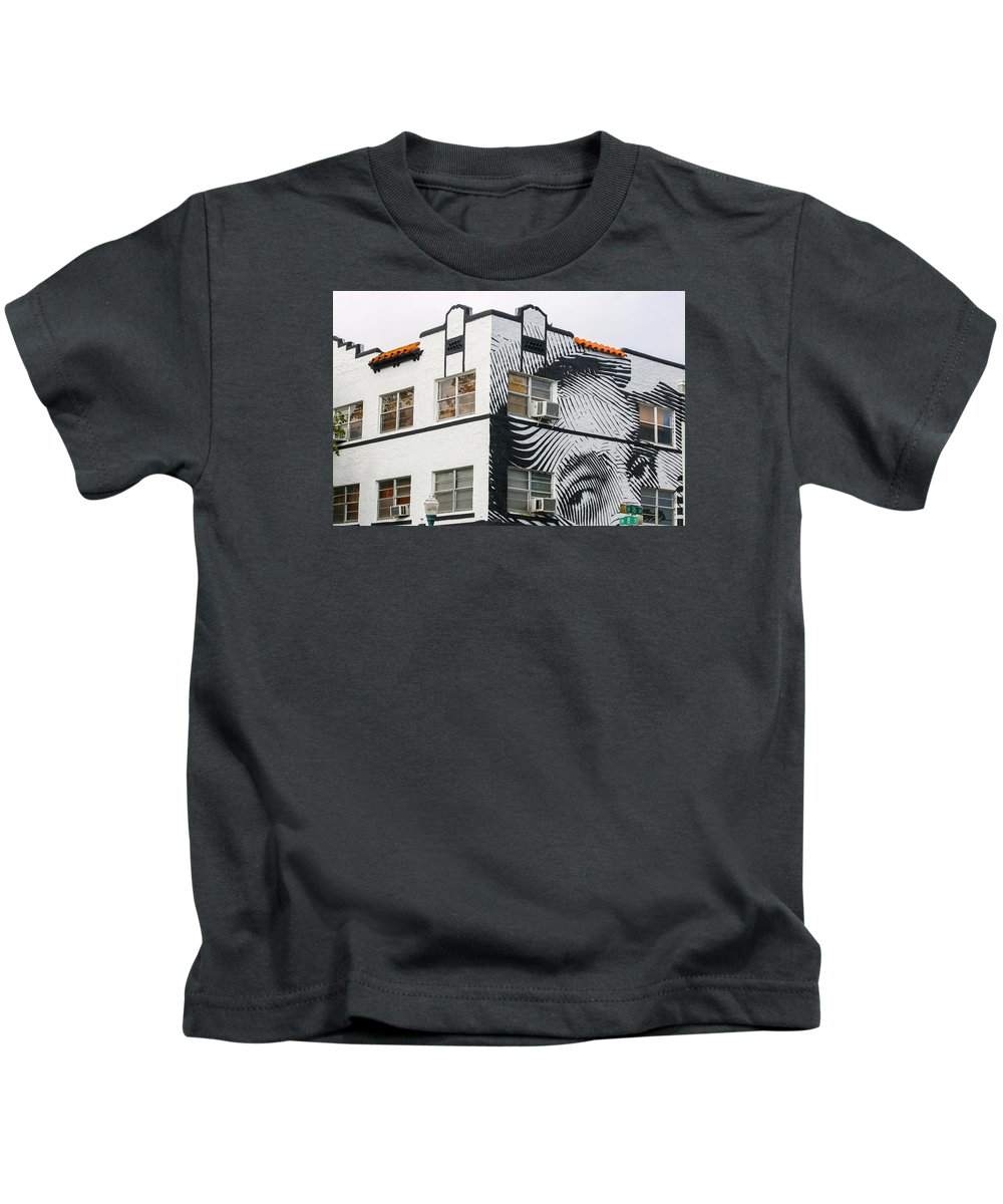 Calle Ocho Kids T-Shirt featuring the photograph Face House, Calle Ocho by Dart and Suze Humeston