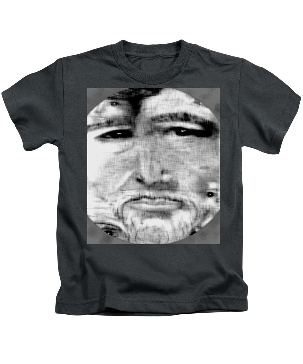 Drawing Kids T-Shirt featuring the digital art Faces by Michelle Audas