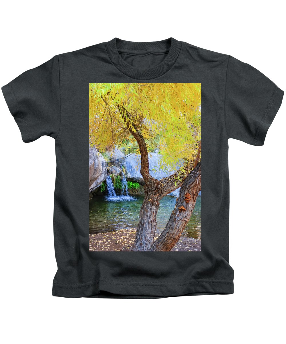 Waterfall Kids T-Shirt featuring the photograph Fall At Murray Falls I by Scott Campbell