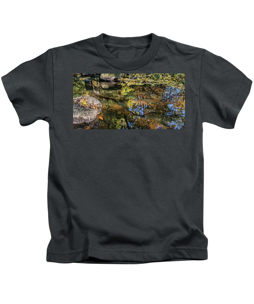 #faa Kids T-Shirt featuring the photograph Fall Into Seasons by Anka Wong