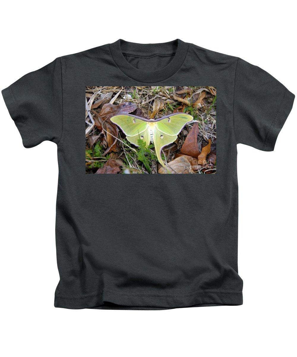 Moth Kids T-Shirt featuring the photograph Fallen Angel by David Lee Thompson