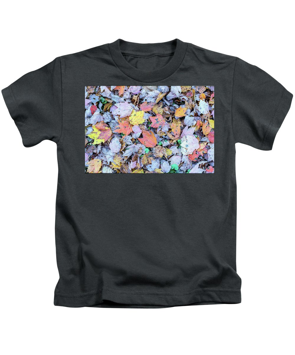 Leaves Kids T-Shirt featuring the photograph Fallen Leaves by Cris Ritchie
