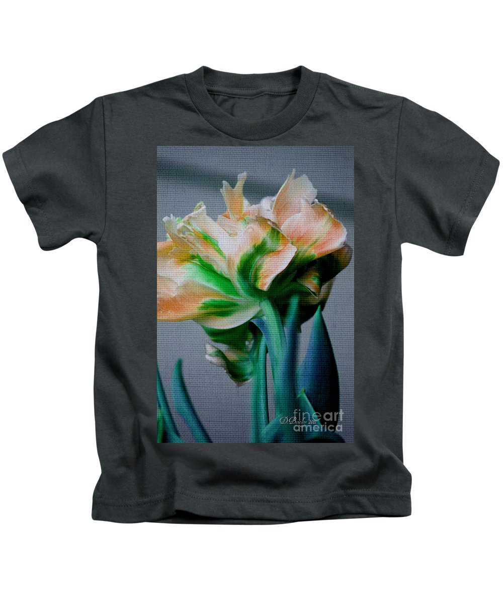 Flower Kids T-Shirt featuring the photograph Fancy Tulip by Donna Bentley