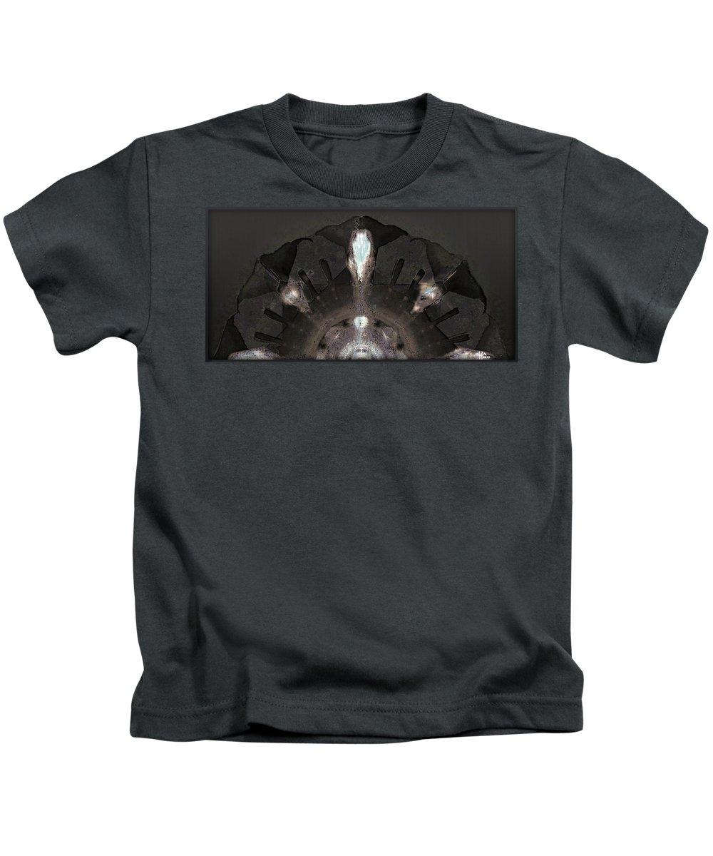 Geometric Abstract Kids T-Shirt featuring the digital art Fanny 1 by Warren Furman