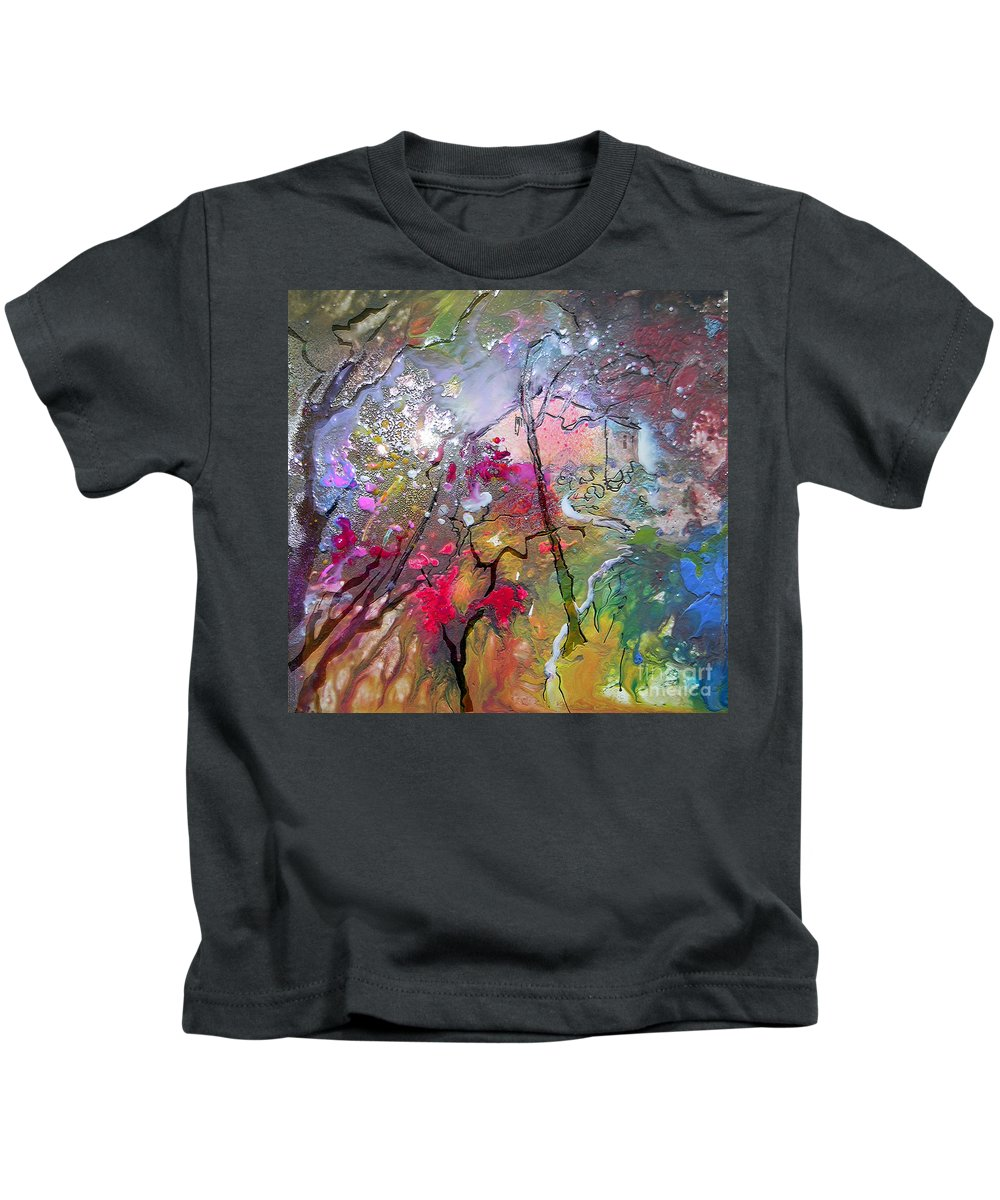Miki Kids T-Shirt featuring the painting Fantaspray 19 1 by Miki De Goodaboom