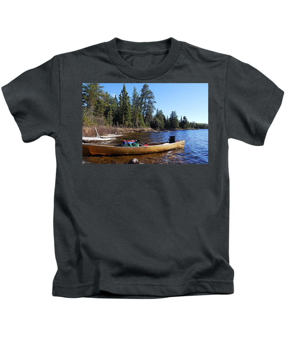 Hope Lake Kids T-Shirt featuring the photograph Farewell To Hope Lake by Larry Ricker