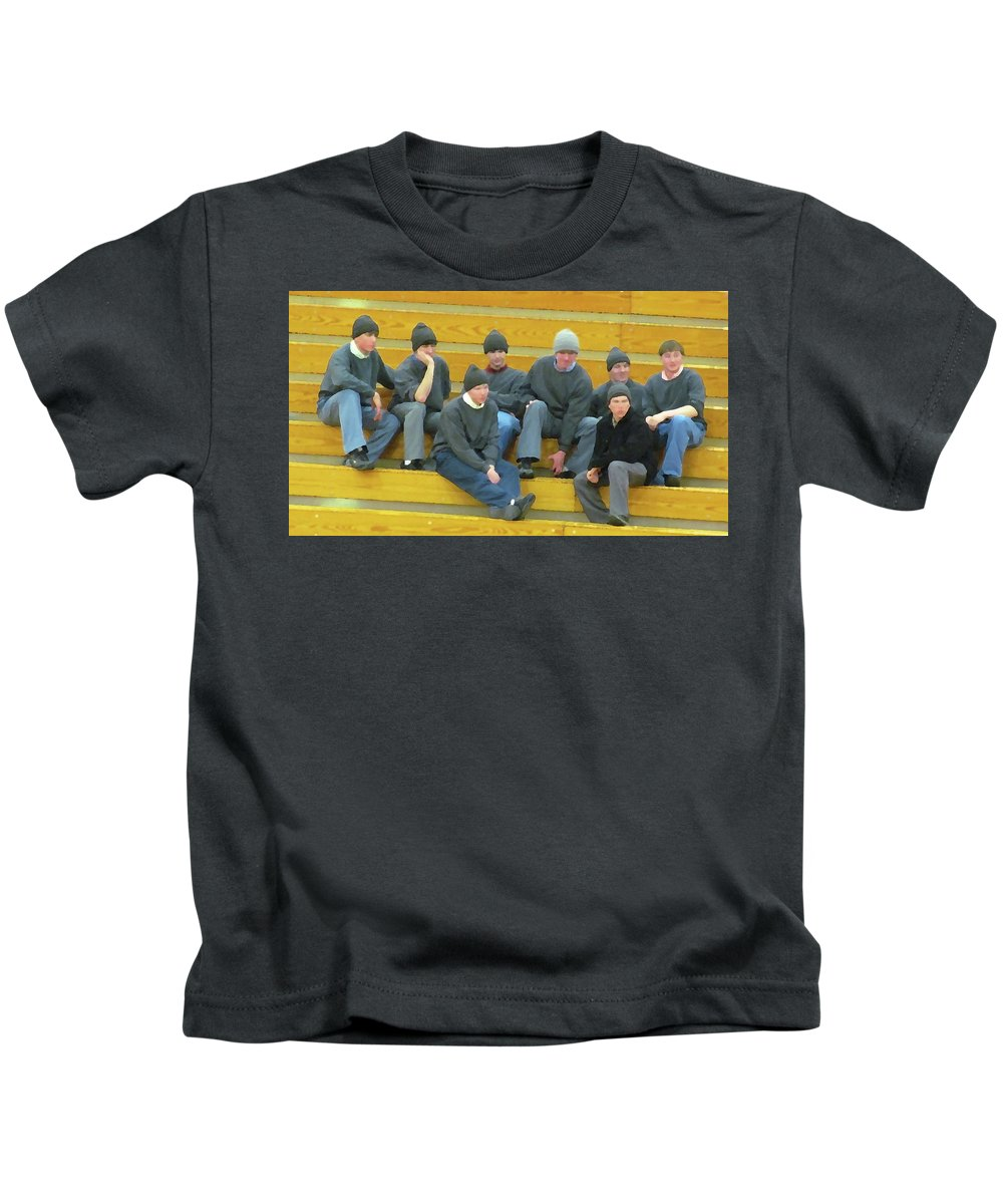 Amish Kids T-Shirt featuring the photograph Fashionable Caps by Tina M Wenger