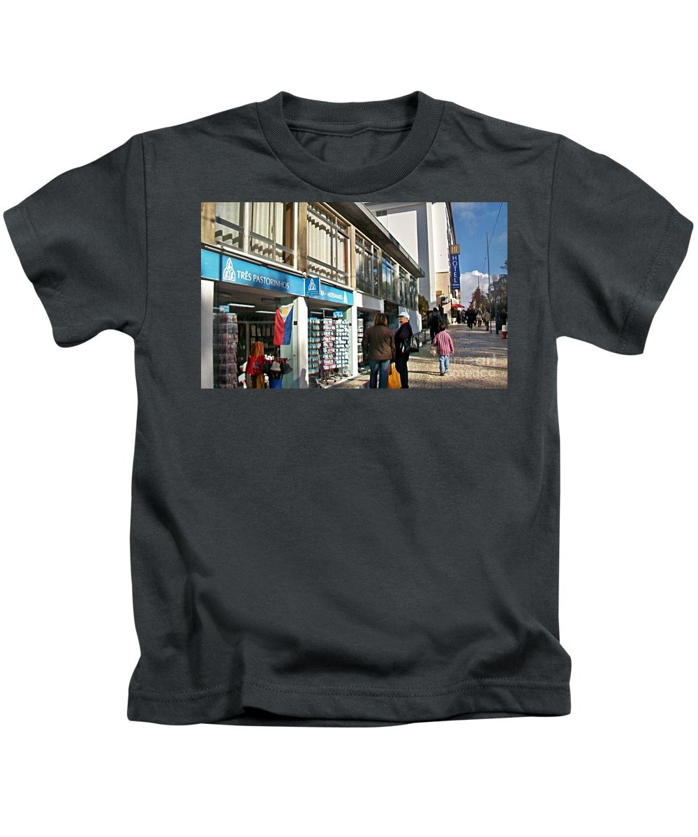 Fatima Kids T-Shirt featuring the photograph Fatima-1 by Rezzan Erguvan-Onal